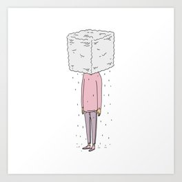It's Rainin' Art Print