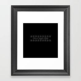 It's A Dog's Life! Black & White Framed Art Print