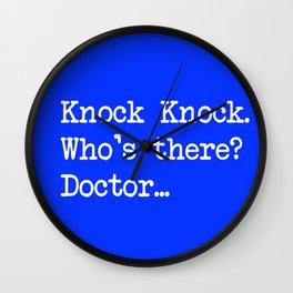 Knock-Knock 1 Wall Clock