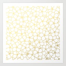 Forget Me Knot White Gold Art Print