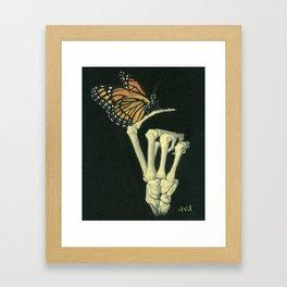 Butterfly & Bones Framed Art Print