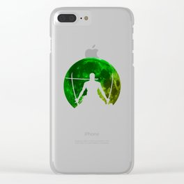 Anime Manga Zoro Moon Shirt Clear iPhone Case