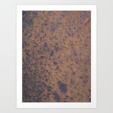 Orange and blue Art Print