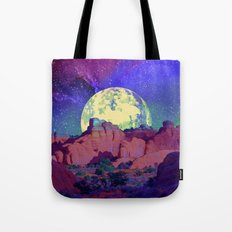 night desert landscape Tote Bag