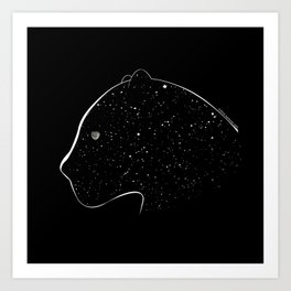 Moon-eyed star panther Art Print