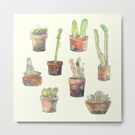 Cactus ensemble  Metal Print