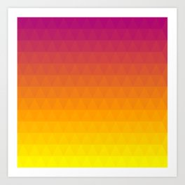 Pink and Yellow Ombre - Flipped Art Print
