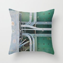 industrial pastels 2 Throw Pillow
