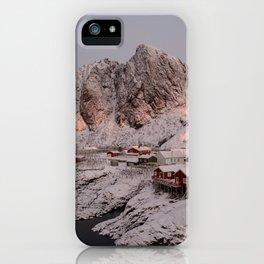 Hamnøy Winter Sunrise iPhone Case