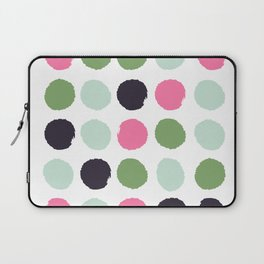 Painted dots minimal colorful pattern polka dots nursery baby decor Laptop Sleeve