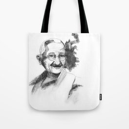 Will & Strength (Ghandi) by carographic Tote Bag