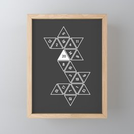 Unrolled D20 Framed Mini Art Print