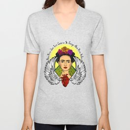 "Frida Kahlo ""Alas"" Unisex V-Neck"