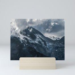 Cold morning in Alps Mini Art Print