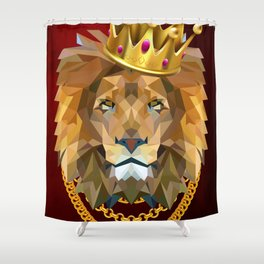 The King of Lions Shower Curtain