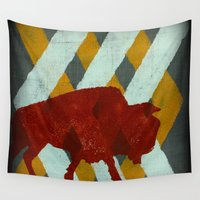 buffalo Wall Tapestries featuring Buffalo by Wood Grian & Grits