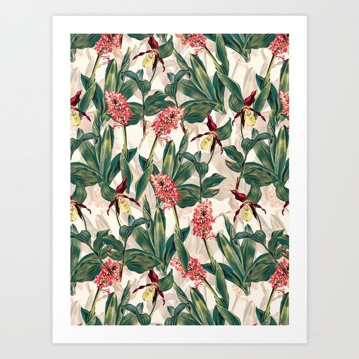 Tropical Leaf Pattern Art Print