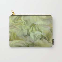 Soft Green Petal Ruffles Abstract Carry-All Pouch