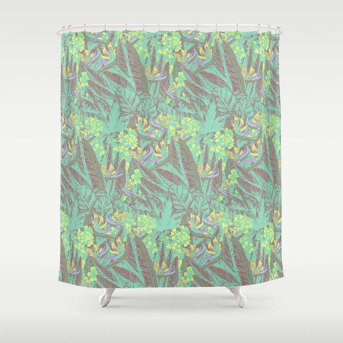 Tropical Paradise: Jade Jungle Shower Curtain