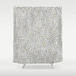 Enokitake Mushrooms (pattern) Shower Curtain