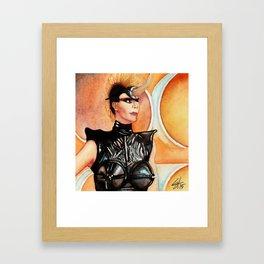 Black Leather Monster Framed Art Print