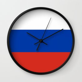 Russian Flag In Red White And Blue Wall Clock
