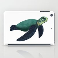 sea turtle iPad Cases featuring Turtle by Imaginative Ink