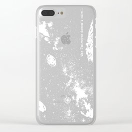 The Universe Doesn't Care Clear iPhone Case