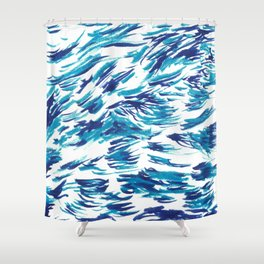 Wavves Shower Curtain