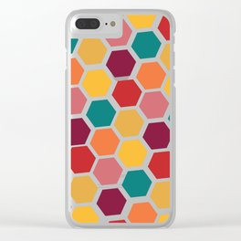 Bright and Happy Geometric Pattern Clear iPhone Case