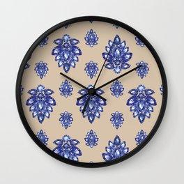 Jewelbox: Sapphire Brooch on Sand Wall Clock