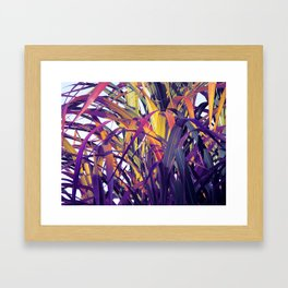 Bight Colorful Bamboo Framed Art Print