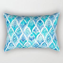 MAGICAL MERBIRD Mermaid Feather Print Rectangular Pillow
