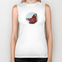 butterfly Biker Tanks featuring Butterfly   by Marjolein