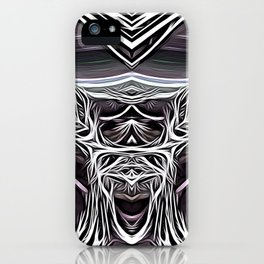 The madness is genius iPhone Case