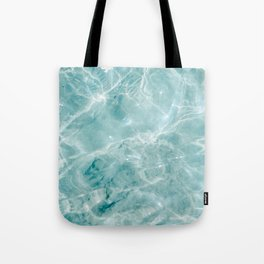 Clear blue water | Colorful ocean photography print | Turquoise sea Tote Bag