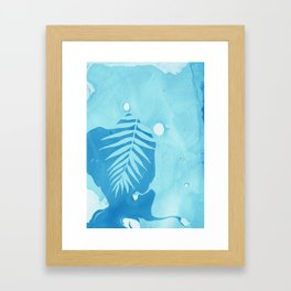 Aqua Marble Palm Framed Art Print