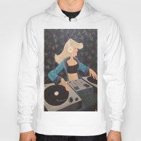 dj Hoodies featuring DJ Beats by McNallieGalleries