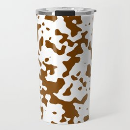 Spots - White and Chocolate Brown Travel Mug