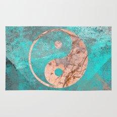 Yin Yang - Rose Turquoise Marble Rug