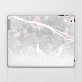 Pastel Pink & Grey Marble - Ombre Laptop & iPad Skin