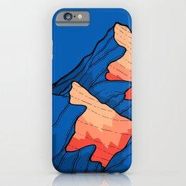 The deep blue peaks iPhone Case