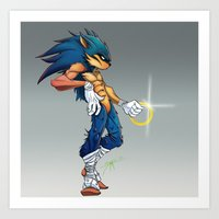 sonic Art Prints featuring Sonic by Samuel Rivera