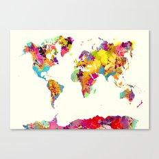 world map color art Canvas Print