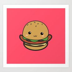 Cute Hamburguer Art Print