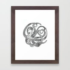 Circular Octopus Framed Art Print