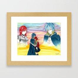 Sunset Embrace Framed Art Print