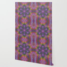 Color Displacement Flower Wallpaper