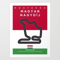 My F1 HUNGARORING Race Track Minimal Poster Art Print