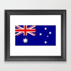 The Flag of Australia Framed Art Print
